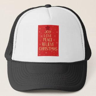 Casquette Arbre de Noël conceptuel des mots. Backgrou rouge