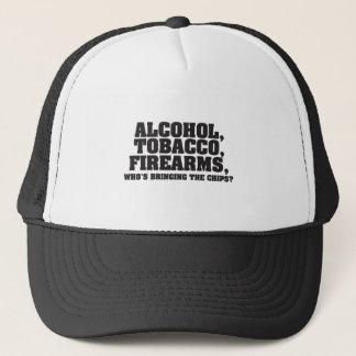 Casquette Armes à feu de tabac d'alcool qui apporte les