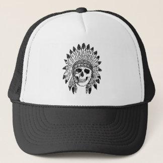 Casquette Art indigène de visage de crâne