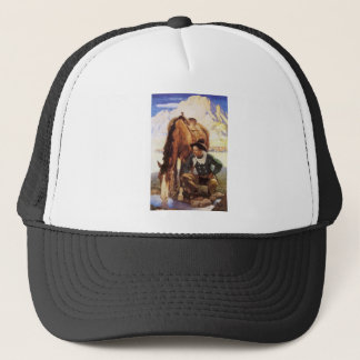 Casquette Art vintage, cowboy arrosant son cheval par OR