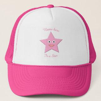 Casquette assez rose d'étoile