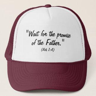 Casquette Attente la promesse de la citation de bible de