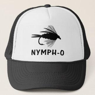 Casquette Attrait drôle de pêche de mouche de Nymphe-o