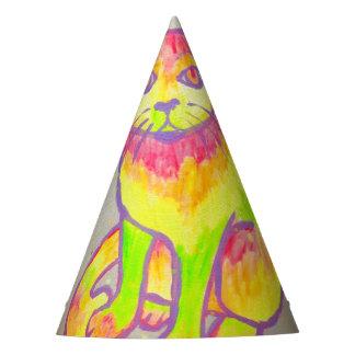 Casquette au néon peint à la main de partie de chapeaux de fètes
