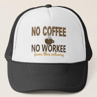 Casquette Aucun café aucun actuaire de Workee