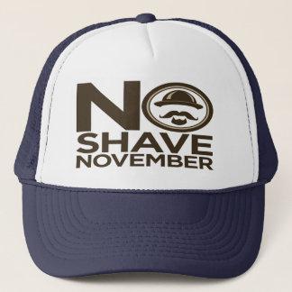 Casquette Aucune barbe de moustache de novembre de rasage