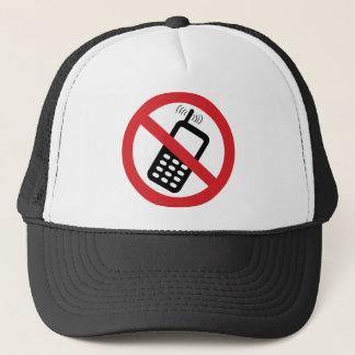 Casquette Aucuns téléphones portables