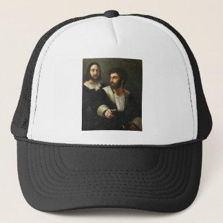Casquette Autoportrait avec un ami par Raphael