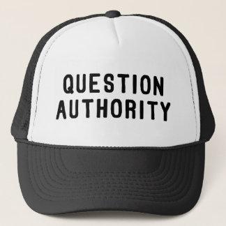 Casquette Autorité de question