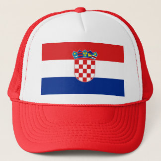 Casquette avec le drapeau de la Croatie