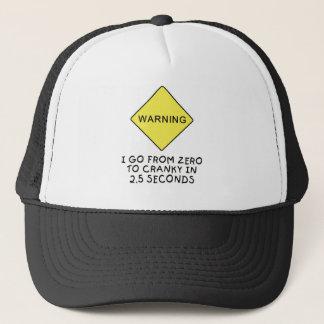 Casquette avertissement Zéro-à-excentrique