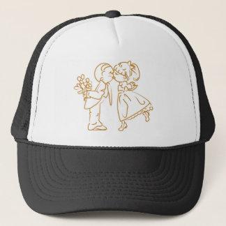 Casquette Baisers du croquis de couples