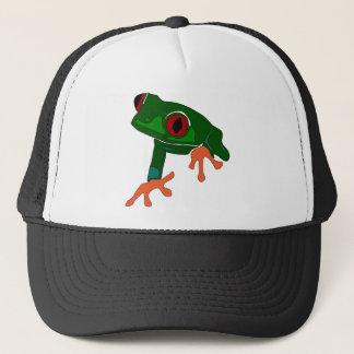 Casquette Bande dessinée de grenouille verte