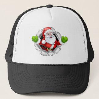 Casquette Bande dessinée de Père Noël déchirant par un