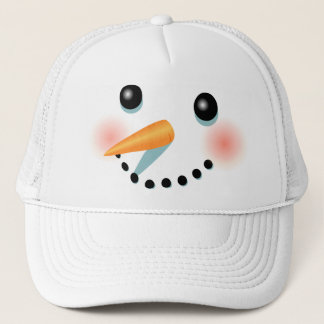 Casquette Bande dessinée givrée fraîche de bonhomme de neige