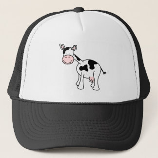 Casquette Bande dessinée noire et blanche de vache