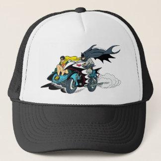 Casquette Batman et Robin dans Batcycle