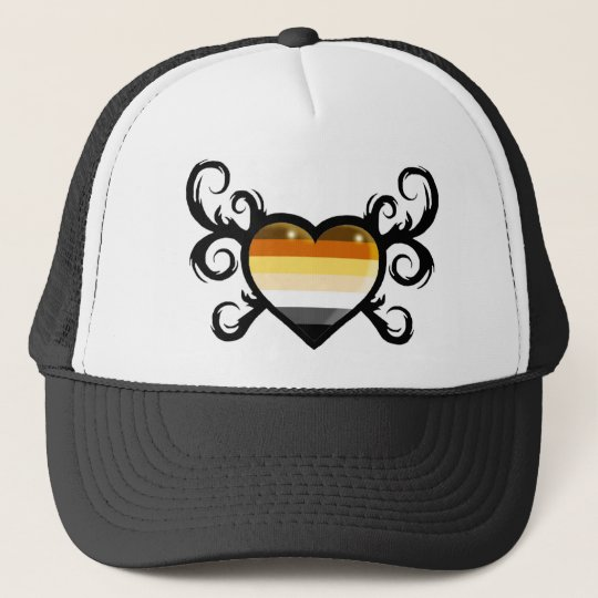 casquette bear flag heart