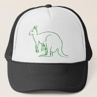 Casquette beau heureux de bébé de kangourou de joie animale