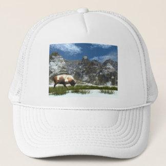 Casquette Bison dans la montagne