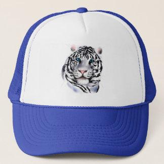 Casquette blanc de visage de tigre