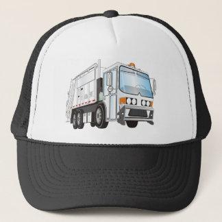 Casquette blanc du camion à ordures 3d