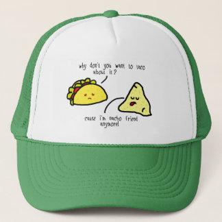 Casquette blanc et vert de camionneur de taco et
