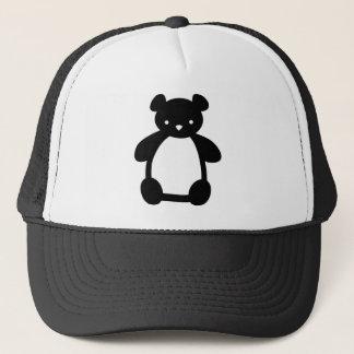 Casquette blanc noir d'ours de nounours