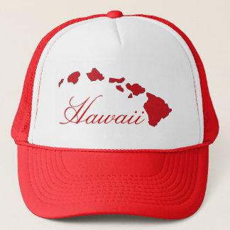 Casquette blanc rouge d'îles d'Hawaï