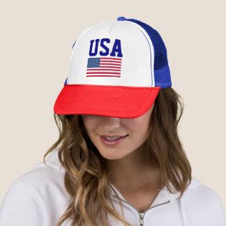 Casquette Bleu blanc rouge simple de drapeau américain de