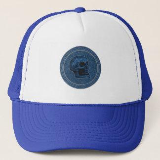Casquette Bleu de CRÂNE - arrière - plan en pierre