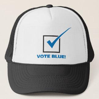 Casquette Bleu de vote