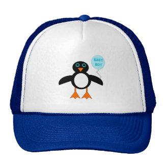 Casquette bleu mignon de pingouin de bébé