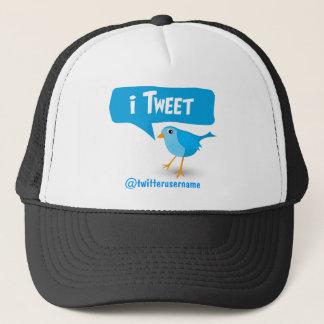 casquette bleu mignon d'oiseau de gazouillement