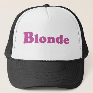 Casquette blond de camionneur