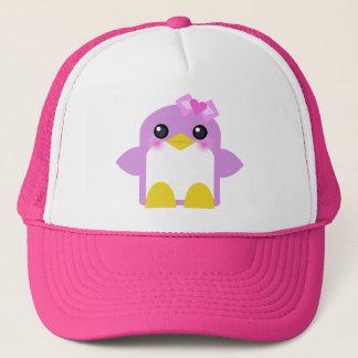Casquette bonbon de rose de fille de pingouin de kawaii