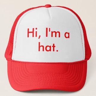 Casquette Bonjour, je suis un chapeau