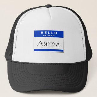 Casquette Bonjour mon nom est Aaron