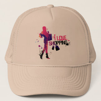 Casquette Bonnet « I Love Shopping ""