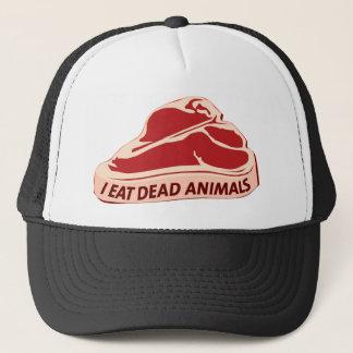 Casquette Bonnet Trucker I eat dead animals