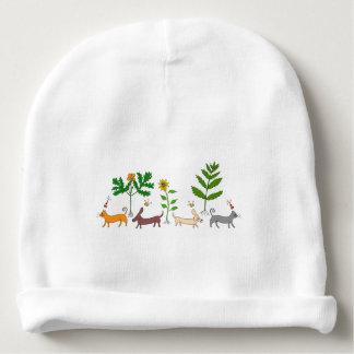 Casquette botanique lunatique de calotte de bébé bonnet de bébé