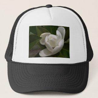 Casquette bourgeon floral blanc de magnolia du sud