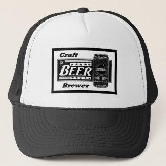 Casquette Brasseur de bière de métier - le noir et le blanc