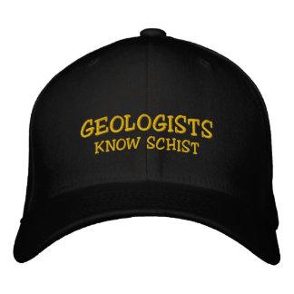 Casquette brodé connaissent schiste de géologue