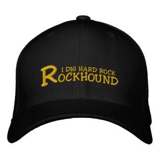 """Casquette brodé creuse hard rock de Rockhound """"je"""""""