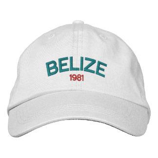 Casquette brodé de Belize 1981 Casquette Brodée