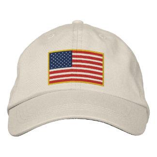 Casquette brodé de drapeau des Etats-Unis
