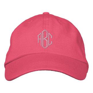 Casquette brodé d'équipe de mariage de monogramme casquette brodée