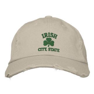 Casquette brodé irlandais personnalisé de cité