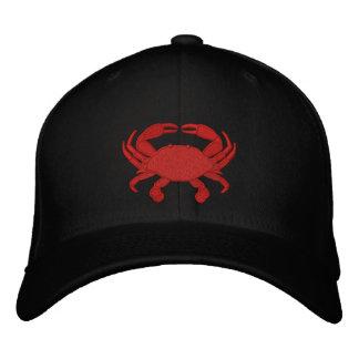 Casquette brodé par crabe rouge